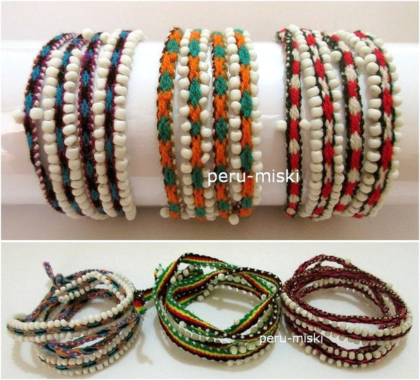 30 Wrap Friendship Bracelets, Watana, from Cusco, Cuzco