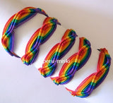 80 Friendship Bracelets Rainbow ZigZag