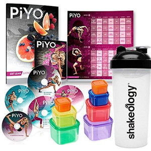 PiYO Workout Program Deluxe Kit with Container and water bottle dvd