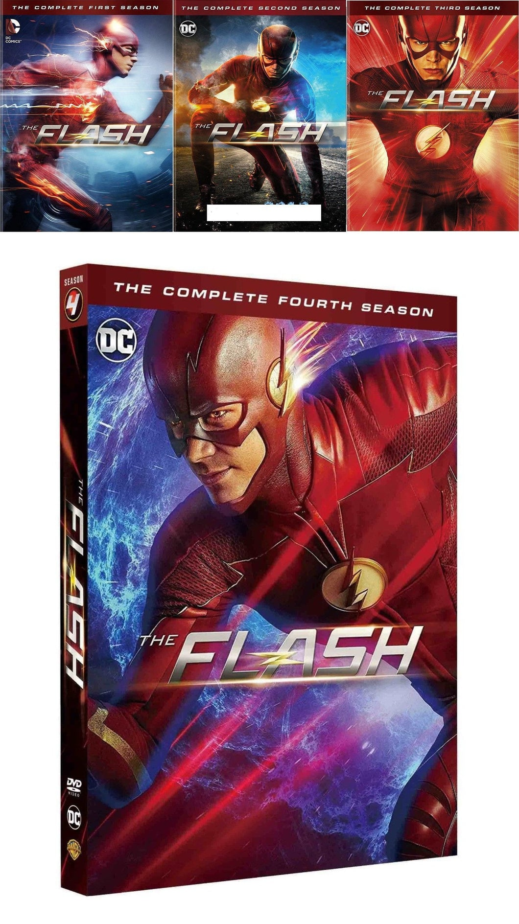 The Flash: Complete TV Series Seasons 1-4 dvd