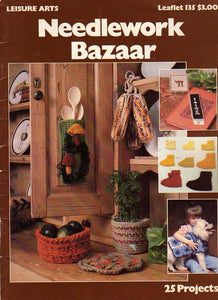 Leisure Arts 0135 / Needlework Bazaar, 25 Projects / Mostly Crochet