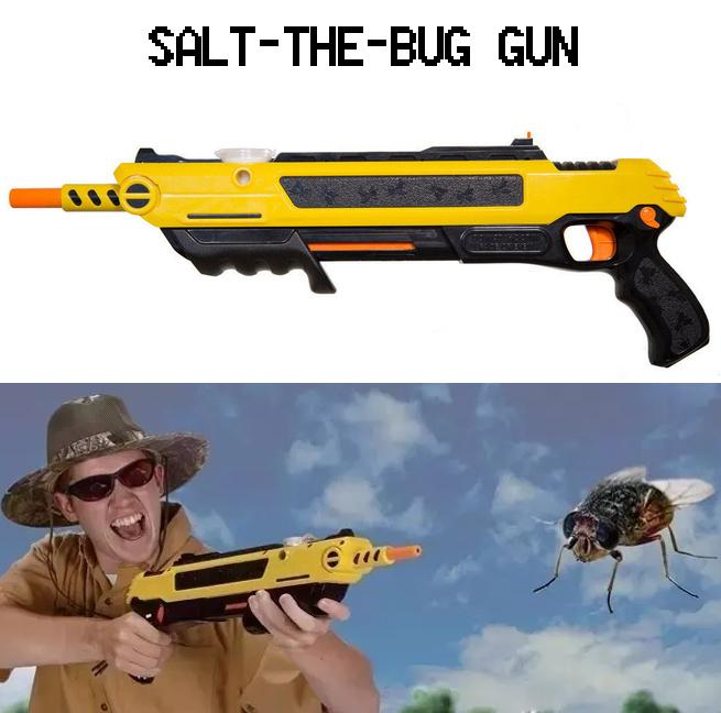 Salt-The-Bug Gun