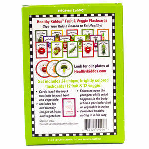 Fruit & Veggie Flashcards - 24 ct by Healthy Kiddos™