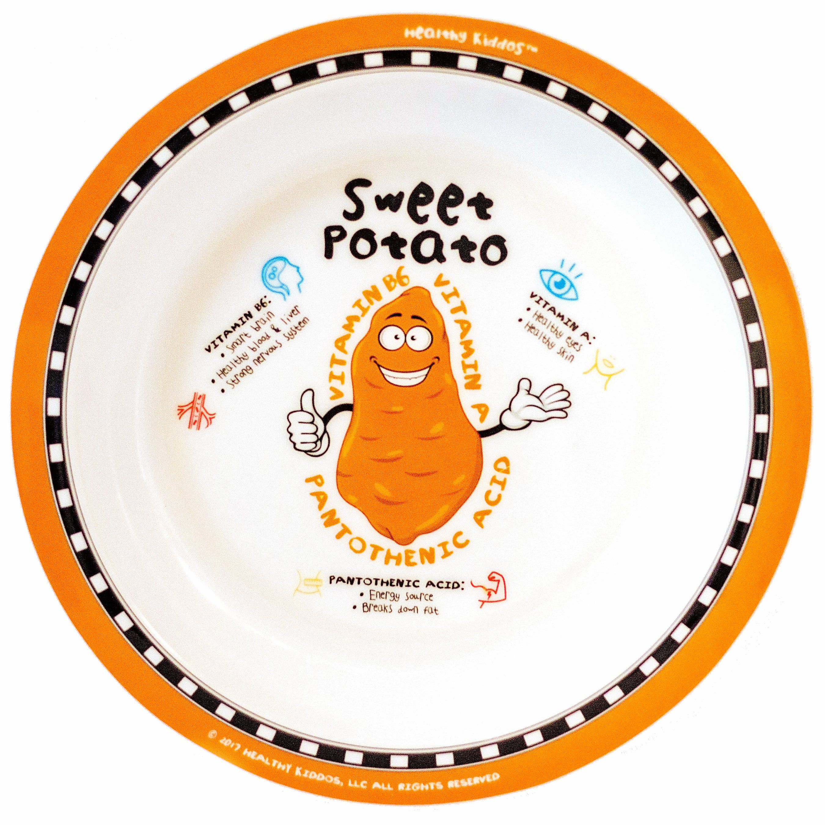 Healthy Kiddos™ 12-pack Children's Nonslip Fruit and Veggie Plates (Best Value!)