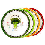 Healthy Kiddos™ 4-pack Children's Nonslip Fruit and Veggie Plates Set 2