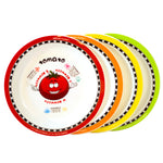 Healthy Kiddos™ 4-pack Children's Nonslip Fruit and Veggie Plates Set 3