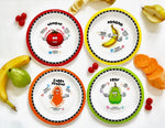 Healthy Kids Plates set 3 - tomato, sweet potato, banana, and pear