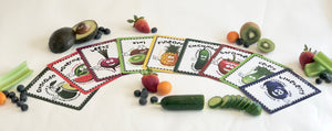Digital Healthy Kiddos™ 24 Colorful Fruit & Veggie Flashcards