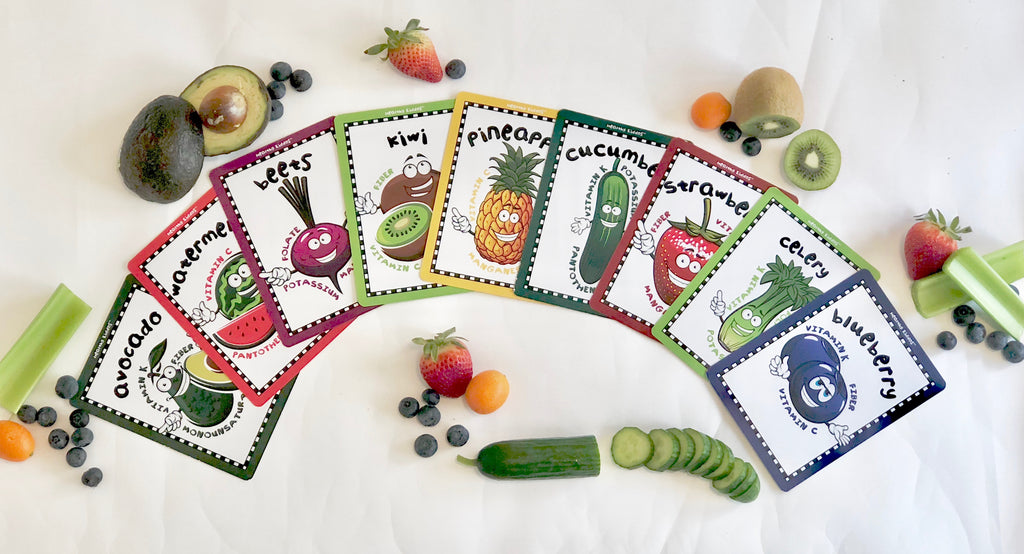 Healthy Kiddos™ 24 Colorful Fruit & Veggie Flashcards