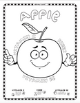 Digital Healthy Kiddos™ Coloring Pages-Full Set of 24 Fruits & Vegetables