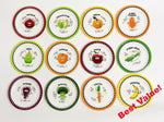 All 12 fruit and vegetable plates