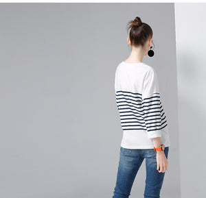 La Parisienne Breton Stripes Batwing Sweater