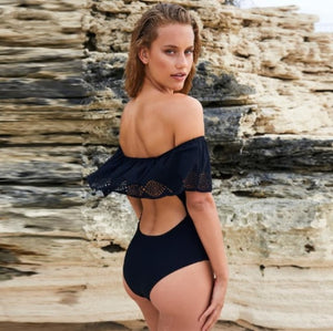 Sexy Bardot Off The Shoulder Push Up Monokini