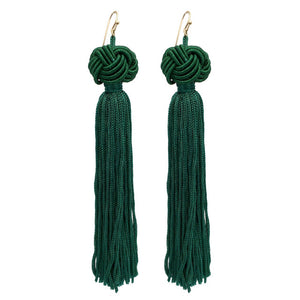 Nikki Oriental Tassel Drop Earrings