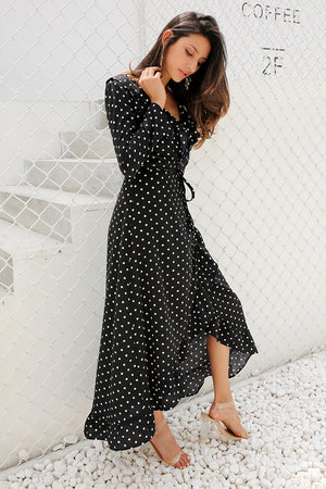 Lorena Ruffle Wrap Maxi Dress