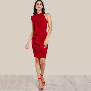 Naima Waterfall Pencil Dress