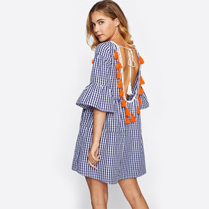 Olivia Tassel Weekend Tie-back Dress