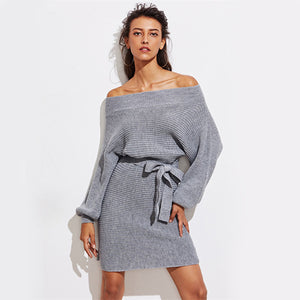 Morgane Batwing Sleeves Sweater Dress