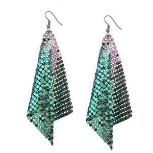 Phyllida Dancing Queen Chain Mail Drop Earrings