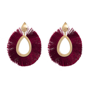 Charlize Teardrop Tassel Earrings