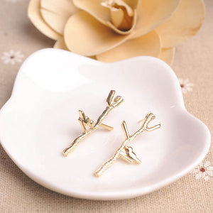 Bird on Branch Bijoux Femme Earrings