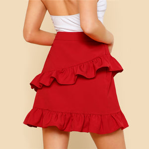 Anaïs Lou High Waist Ruffle Skirt