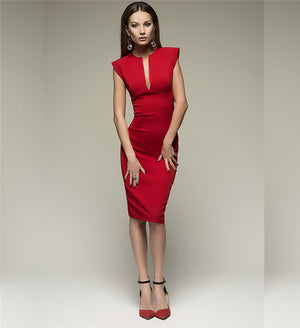 Heloise V-neck Bodycon Sheath