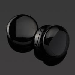 Double Flare Black Obsidian