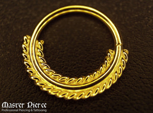 Yellow Gold Seam Ring
