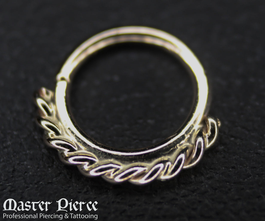 White Gold Seam Ring