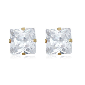 14K Princess-Cut CZ