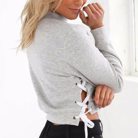 Sexy Lace Up Sweater