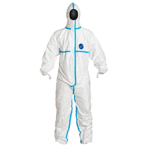PREORDER - New Stock Arriving!  Dupont TY198T Tyvek 600 Plus Type 4/5/6 Coverall With Hood and Taped Seams