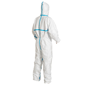 Dupont TY198T Tyvek 600 Plus Type 4/5/6 Coverall With Hood and Taped Seams