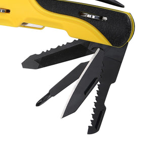 9 in 1 Pocket Multi Function Survival Tool Set - Mini Foldaway Pliers, Knife, Screwdriver, Hammer, Saw
