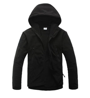 Tactical Thermal Fleece Zipper Pocket Hoodie - Great for Layering