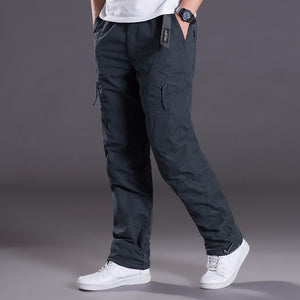 Double Layer Men's Warm Lined Cargo Pants - Several Colors Available