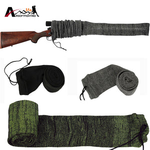 "Silicone Treated Rifle Gun Sock Case 54"" Oversized Knit Protection Sock for Gun Storage"