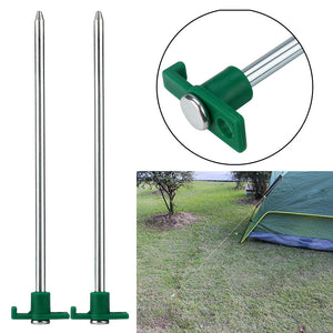 2 piece Luminous/Glow Metal Tent and Tarp Stakes for Camping