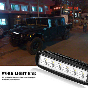 18W 6-LED Vehicle/Car Work Light Bar Fog Flood Lamp for Off-Road