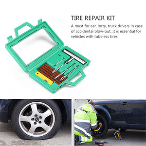 6pc Car Tubeless Tire Puncture Repair Kit