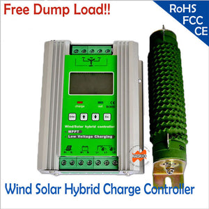 600w 12/24V 300W wind+300W solar MPPT hybrid Solar  Wind Controller with 3 years warranty LCD Display free dump load