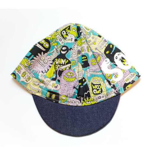 HAND PAINTED SQUID CYCLING CAP BY CACHALOT