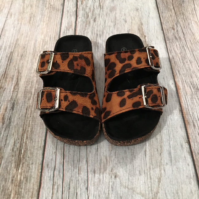 Girls Leopard Sandals