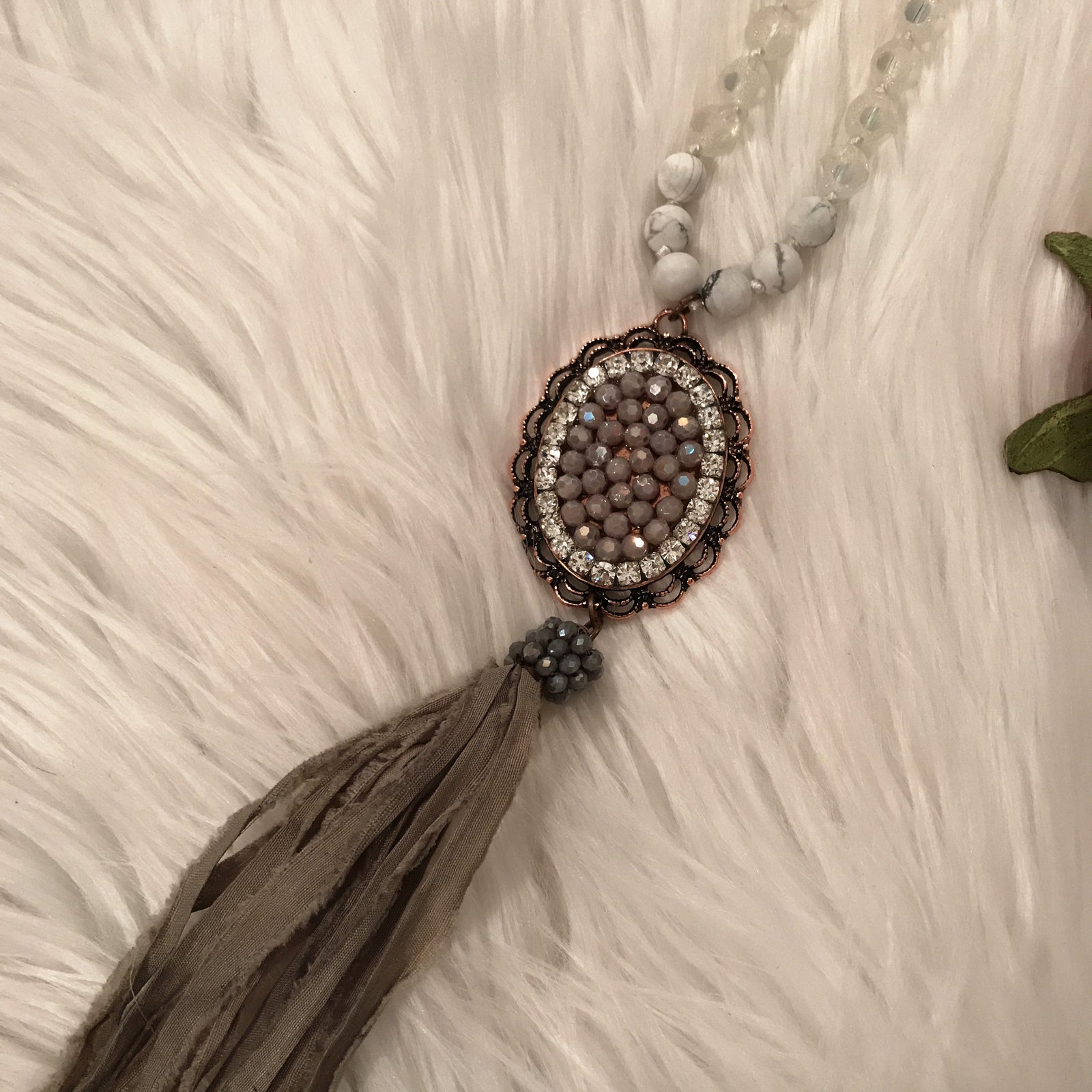 Antique Crystal With Fringe