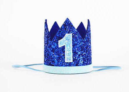Birthday Crown Dark Blue 1