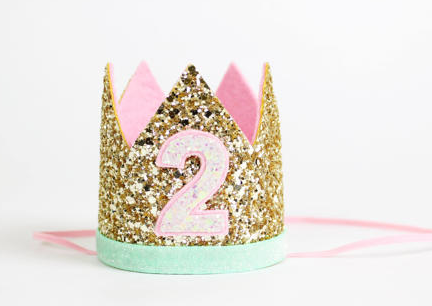 Birthday Crown Gold/Aqua 2