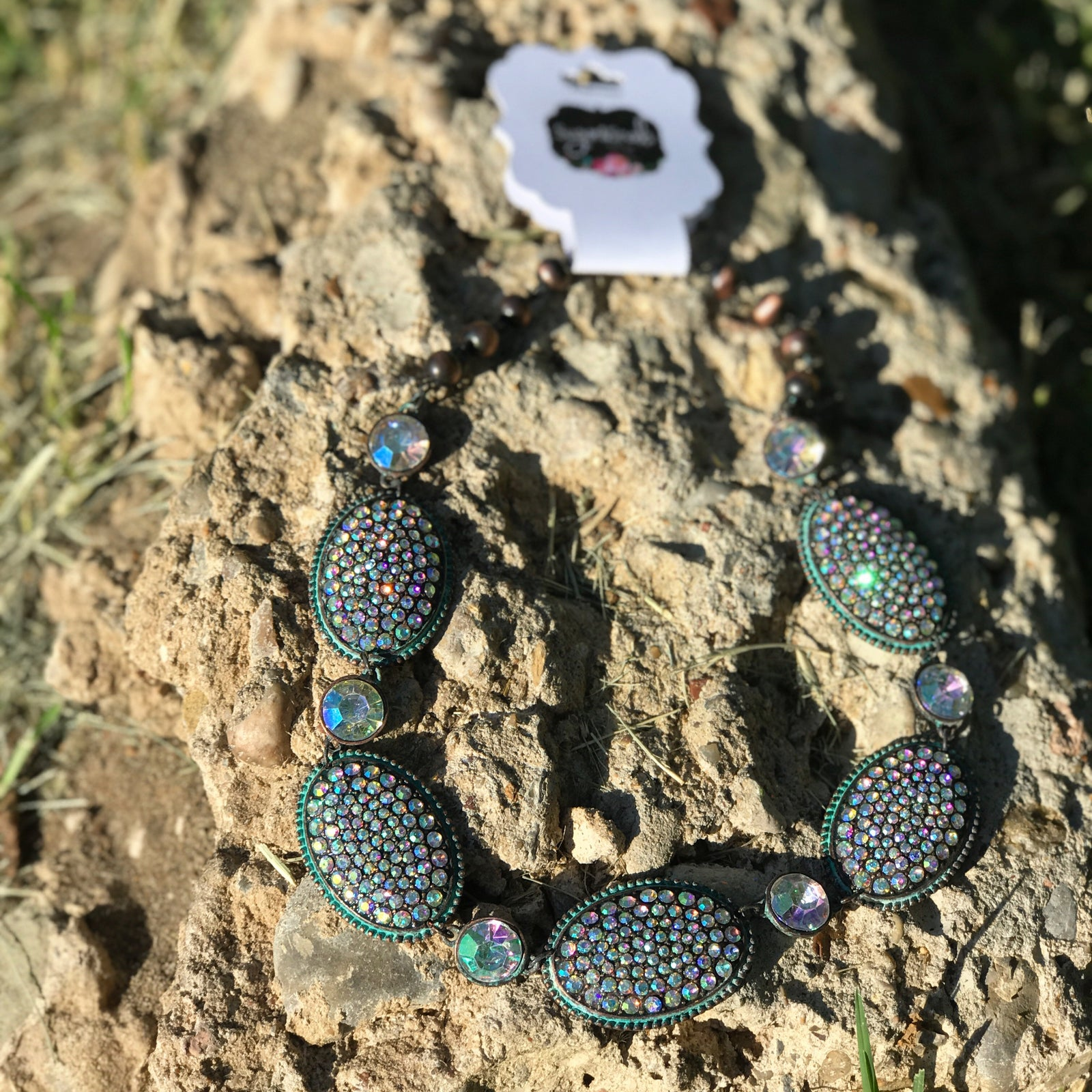 Concho Large and Small Bling Necklace