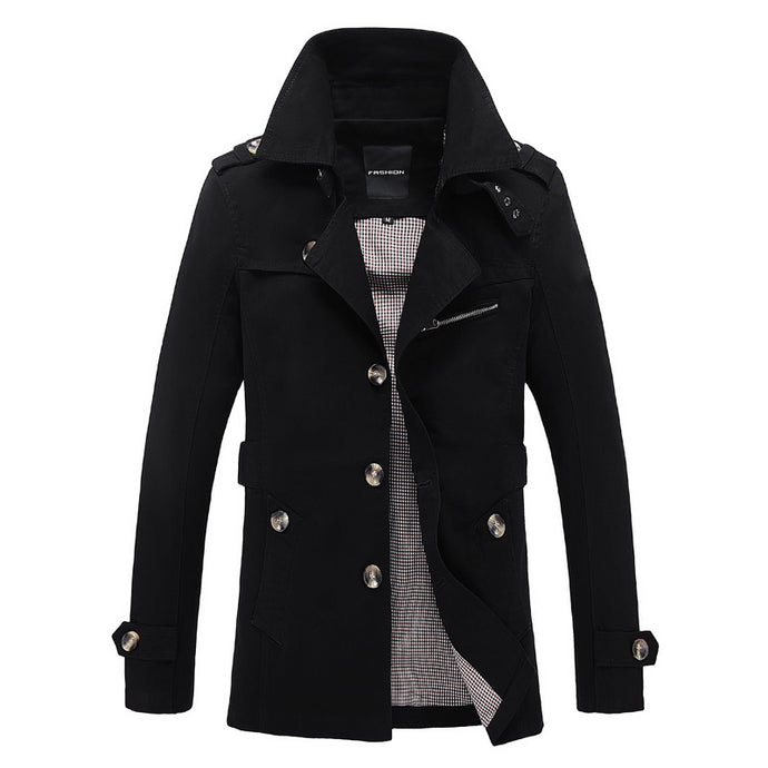 Slim Fit Casual Trench Coat