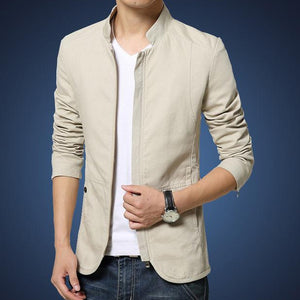 Casual Jacket Men's Slim Fit Jacket